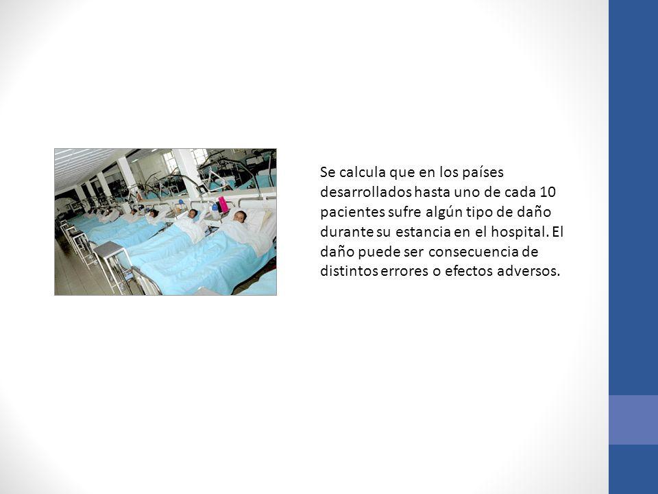 Se calcula que en los países desarrollados hasta uno de cada 10 pacientes sufre algún tipo de daño durante su estancia en el hospital.
