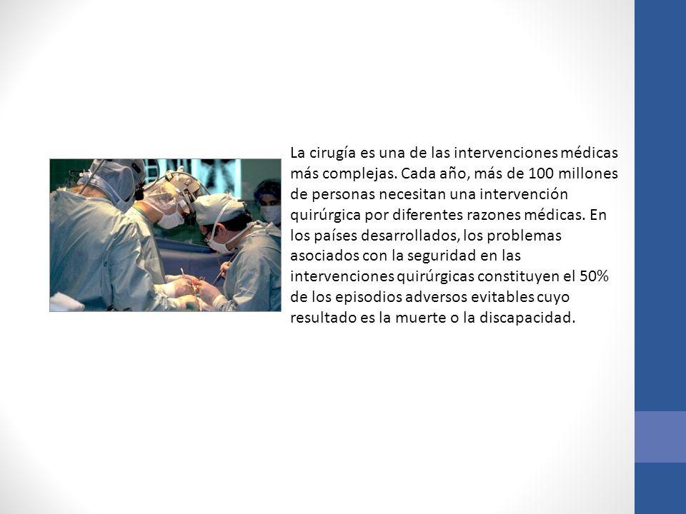 La cirugía es una de las intervenciones médicas más complejas