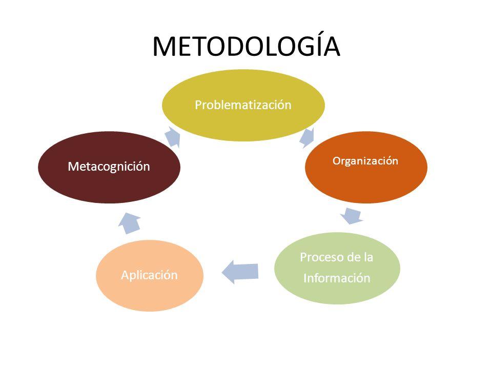 METODOLOGÍA Problematización Proceso de la Información Aplicación