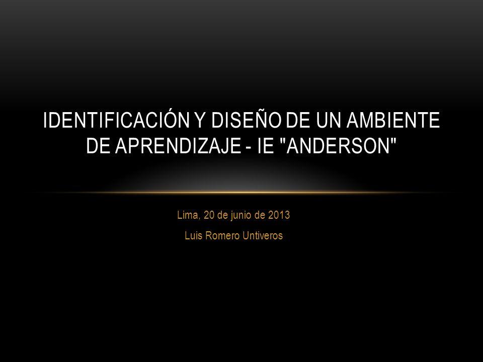Identificación y diseño de un ambiente de aprendizaje - IE Anderson