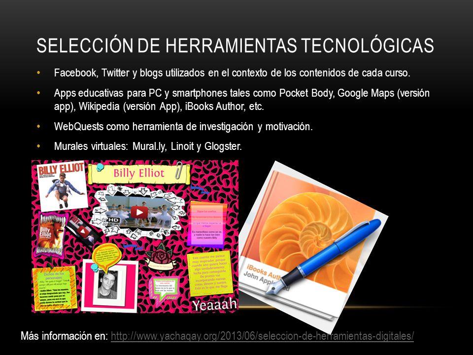 selección de herramientas tecnológicas