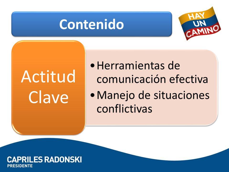 Actitud Clave Contenido Herramientas de comunicación efectiva