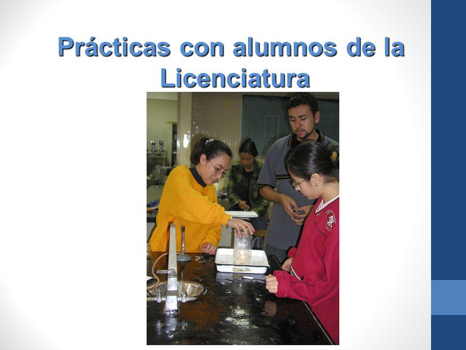 Prácticas con alumnos de la