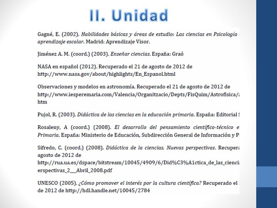 II. Unidad