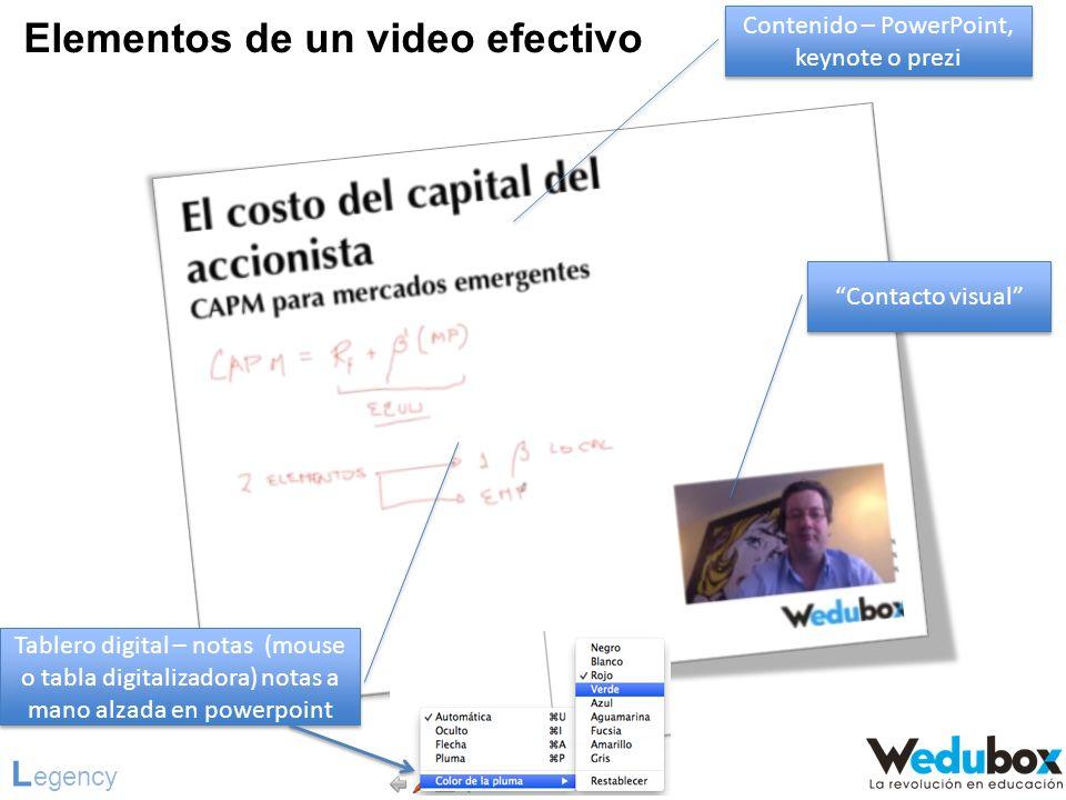Contenido – PowerPoint, keynote o prezi
