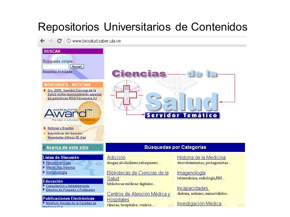 Repositorios Universitarios de Contenidos