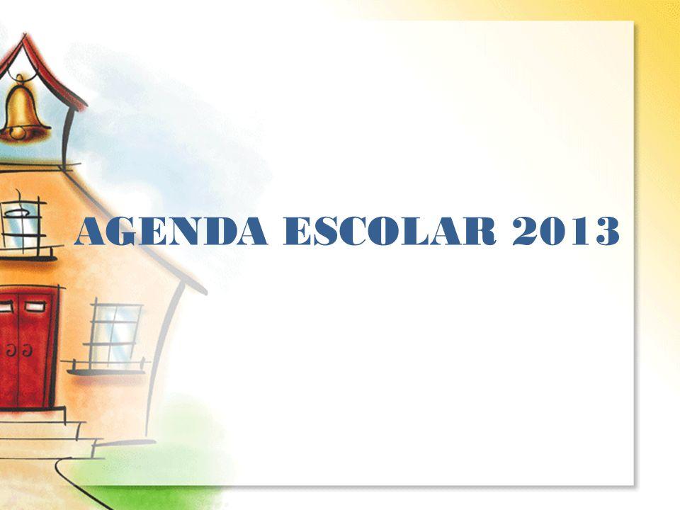 AGENDA ESCOLAR 2013