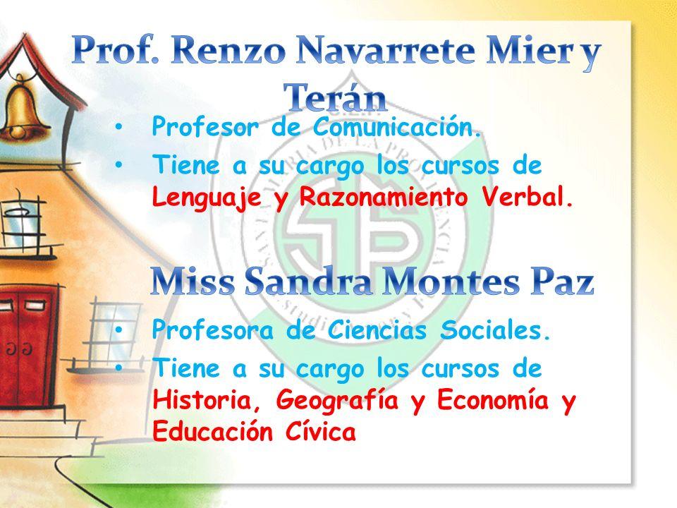 Prof. Renzo Navarrete Mier y Terán