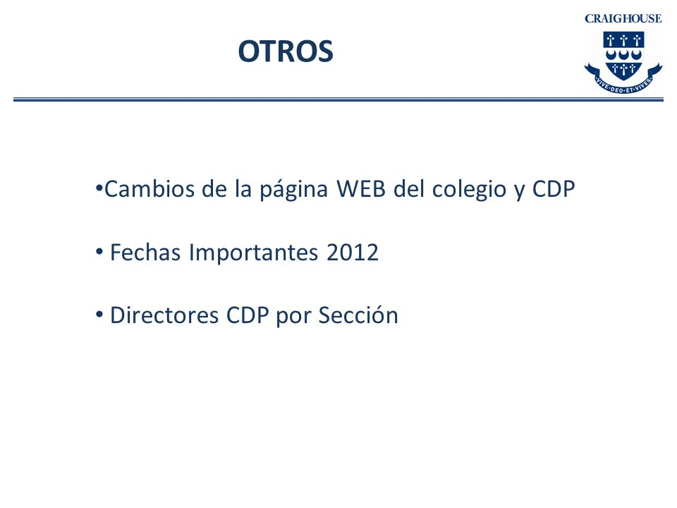 OTROS Cambios de la página WEB del colegio y CDP