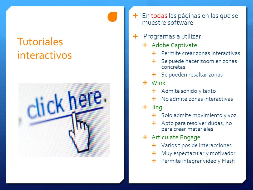 Tutoriales interactivos