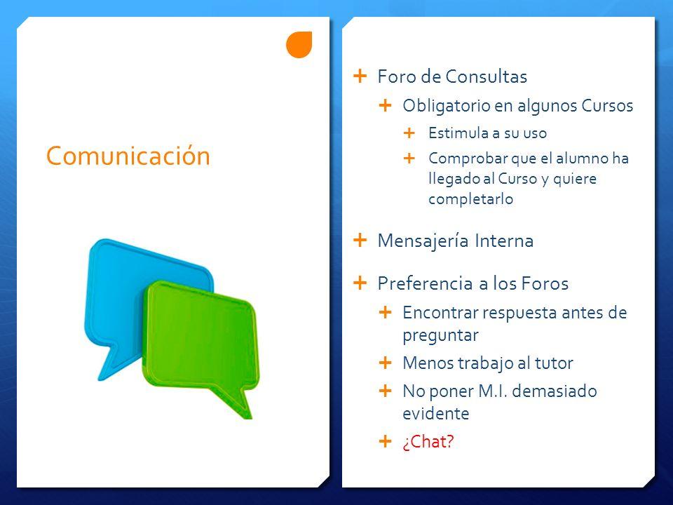 Comunicación Foro de Consultas Mensajería Interna