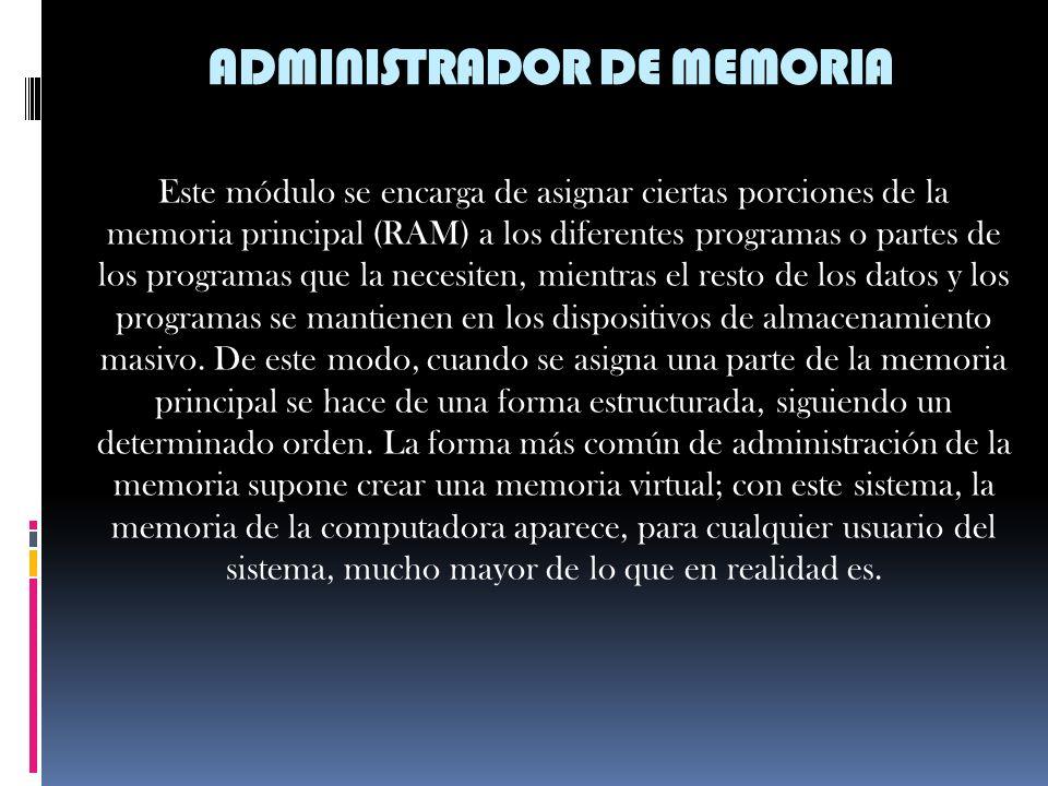 ADMINISTRADOR DE MEMORIA