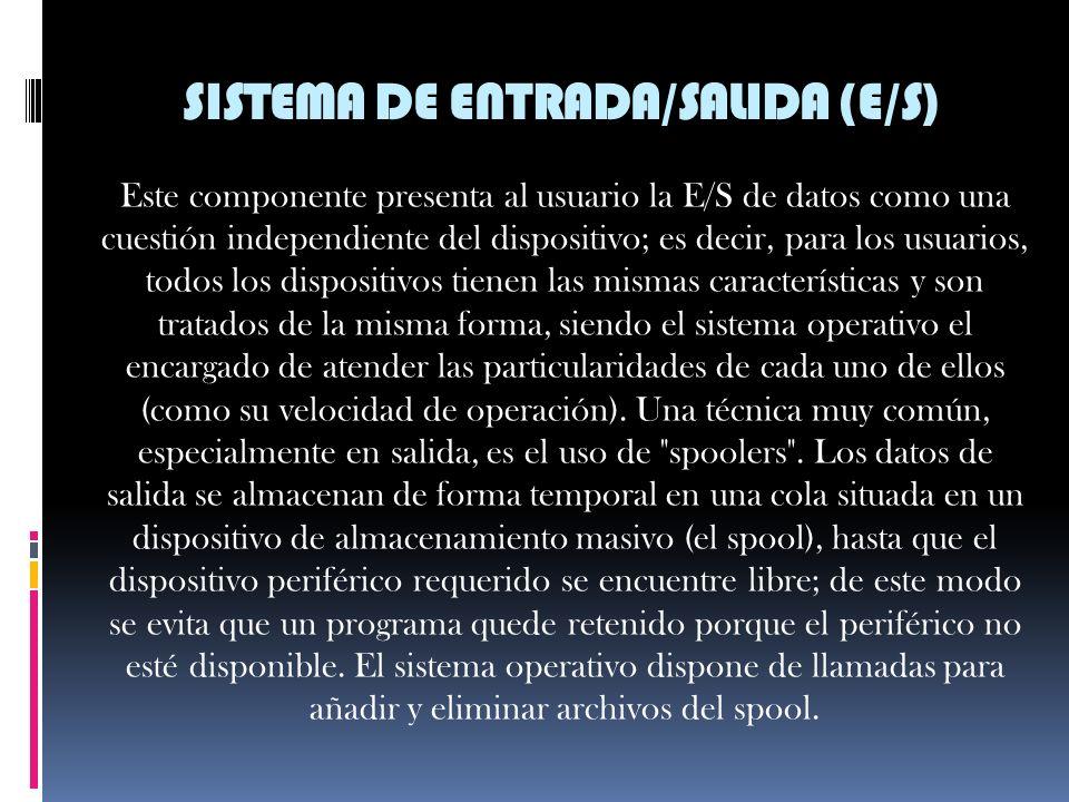 SISTEMA DE ENTRADA/SALIDA (E/S)