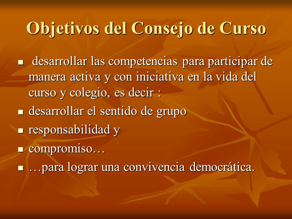 Objetivos del Consejo de Curso
