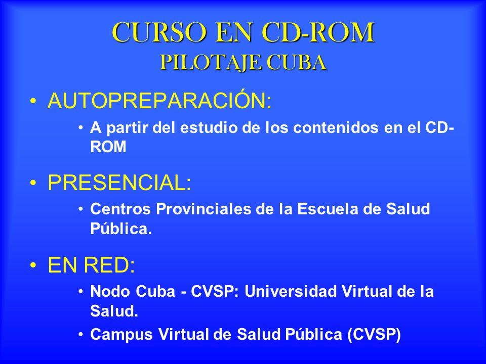 CURSO EN CD-ROM PILOTAJE CUBA