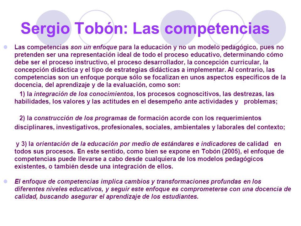 Sergio Tobón: Las competencias