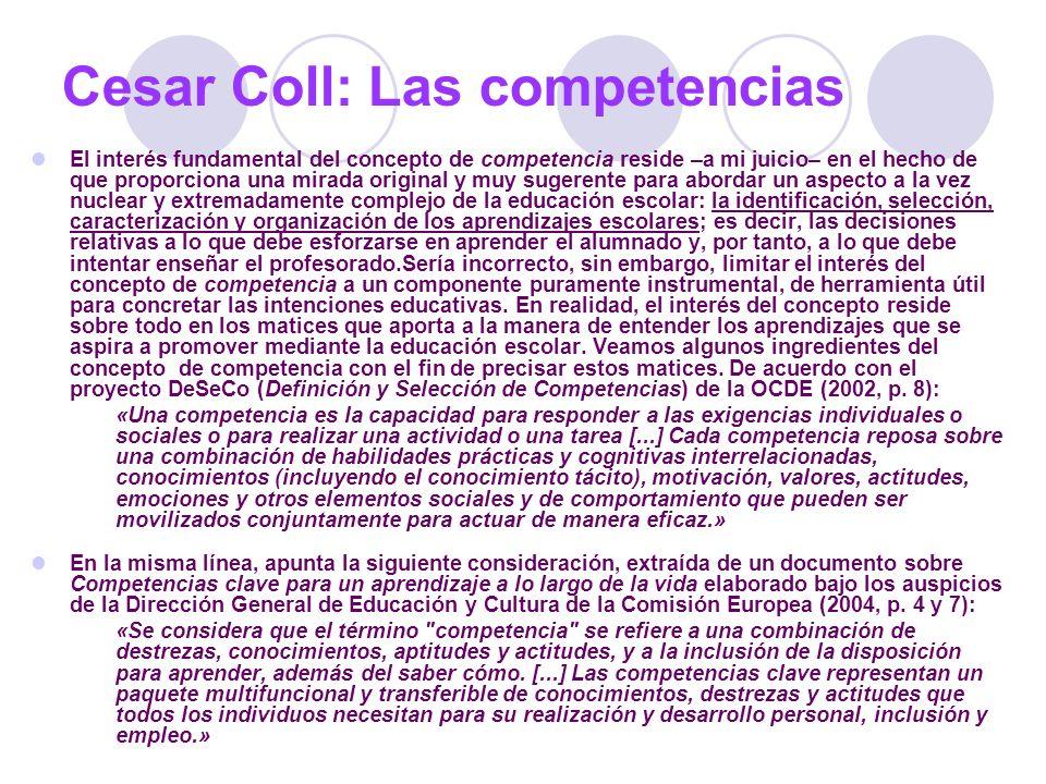 Cesar Coll: Las competencias