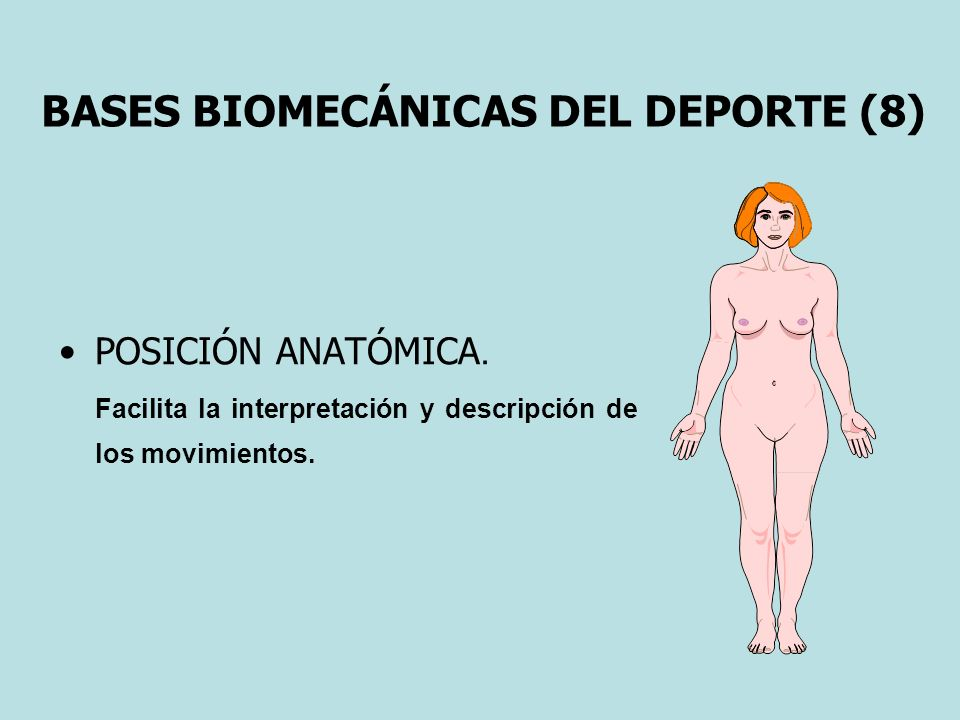 BASES BIOMECÁNICAS DEL DEPORTE (8)