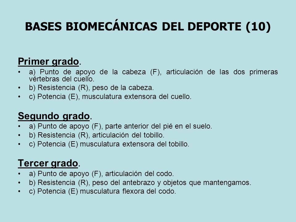 BASES BIOMECÁNICAS DEL DEPORTE (10)