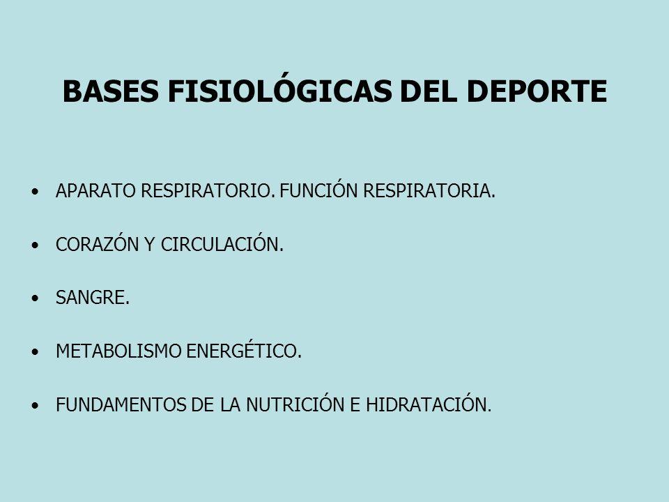 BASES FISIOLÓGICAS DEL DEPORTE