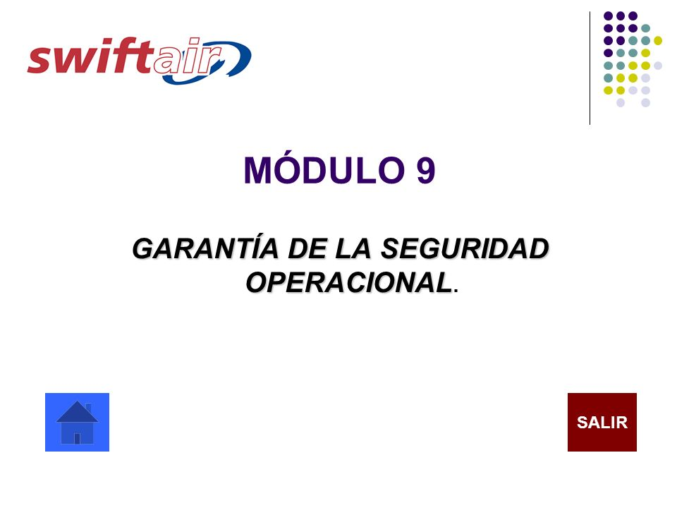 GARANTÍA DE LA SEGURIDAD OPERACIONAL.
