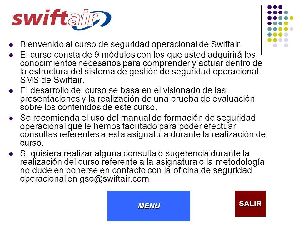 Bienvenido al curso de seguridad operacional de Swiftair.