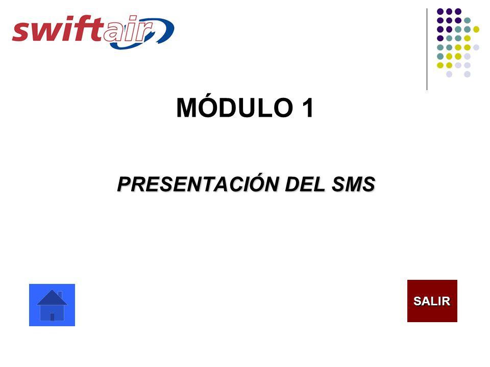MÓDULO 1 PRESENTACIÓN DEL SMS SALIR