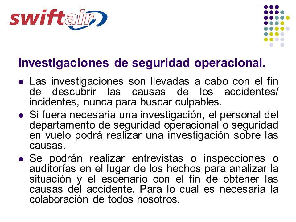 Investigaciones de seguridad operacional.
