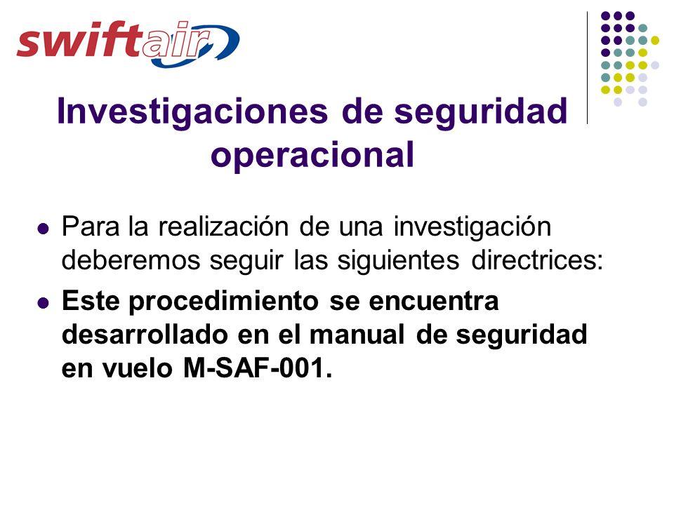 Investigaciones de seguridad operacional