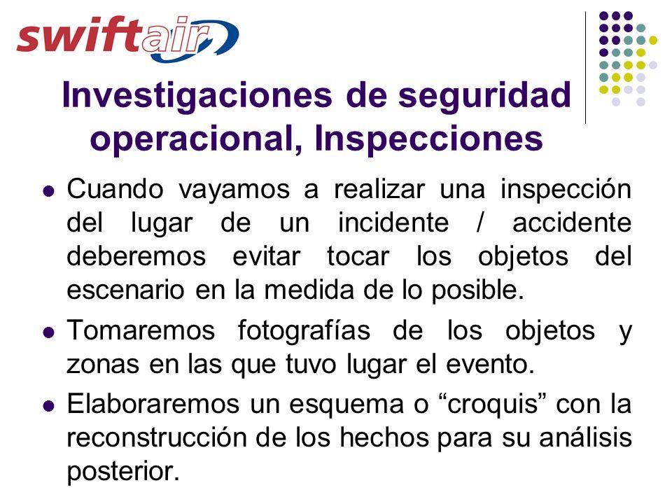 Investigaciones de seguridad operacional, Inspecciones