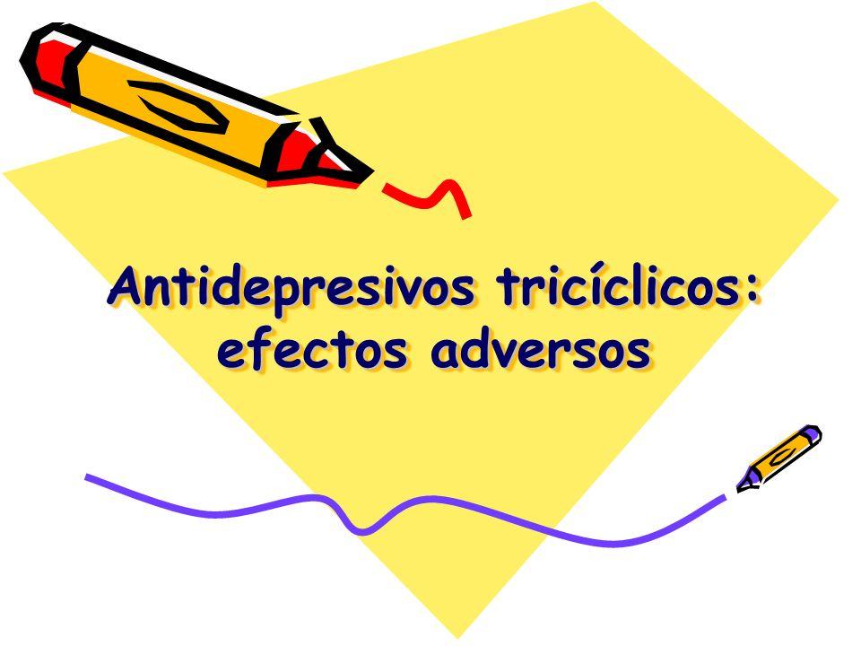 Antidepresivos tricíclicos: efectos adversos