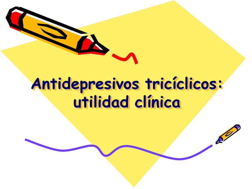 Antidepresivos tricíclicos: utilidad clínica