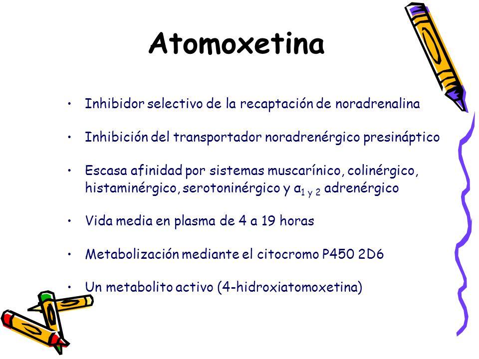 Atomoxetina Inhibidor selectivo de la recaptación de noradrenalina