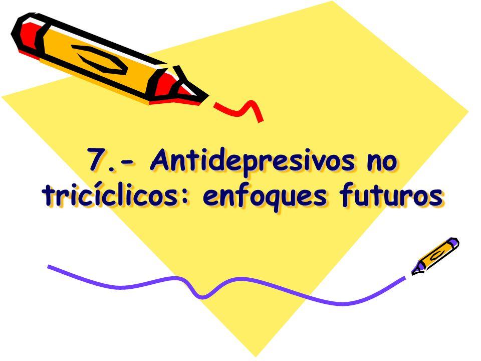 7.- Antidepresivos no tricíclicos: enfoques futuros