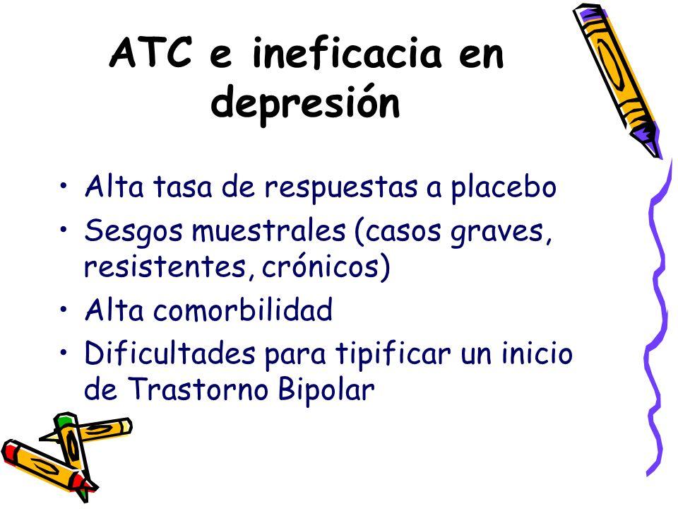 ATC e ineficacia en depresión