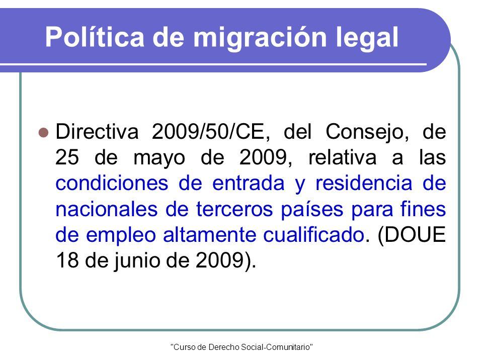 Política de migración legal