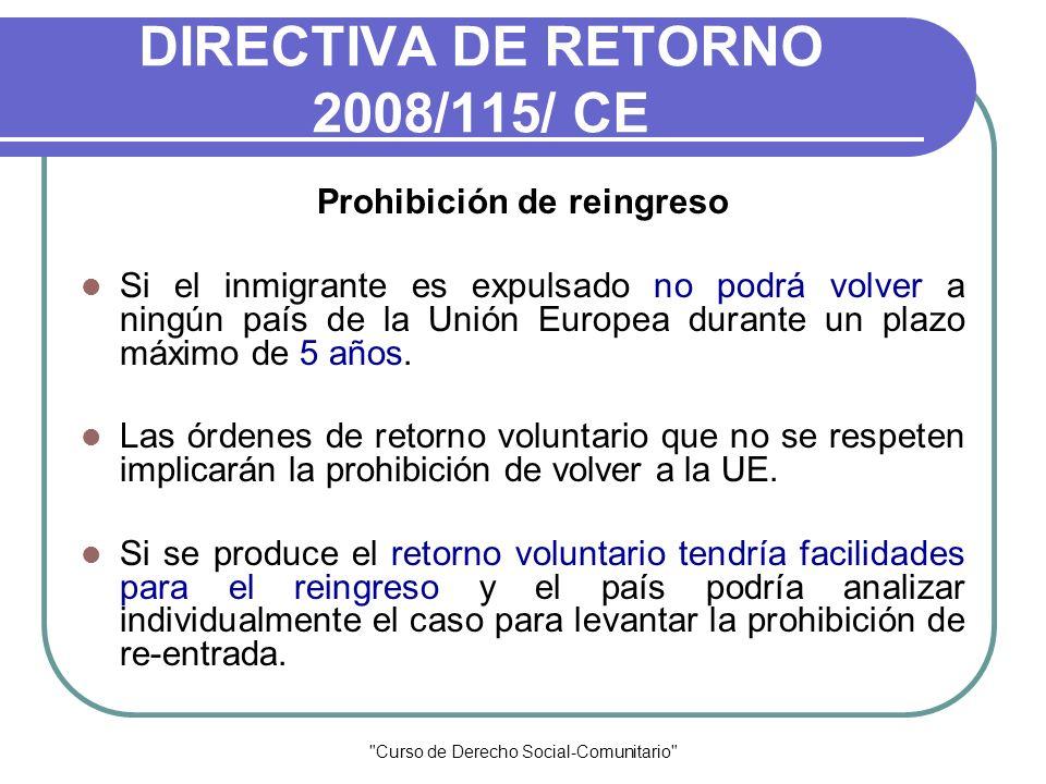 DIRECTIVA DE RETORNO 2008/115/ CE