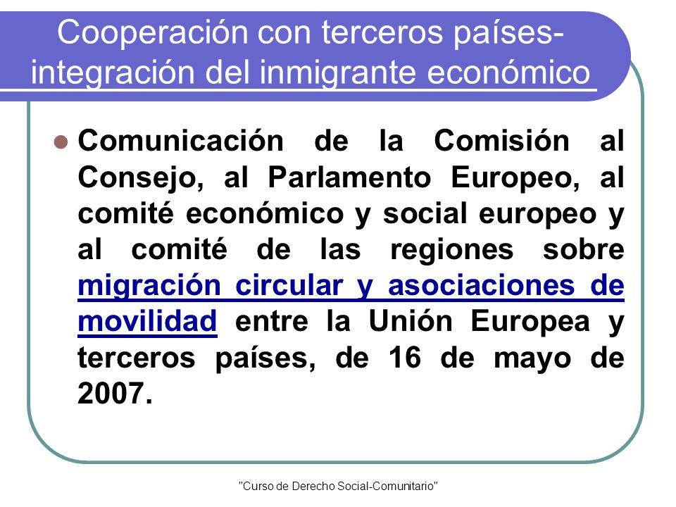 Cooperación con terceros países-integración del inmigrante económico