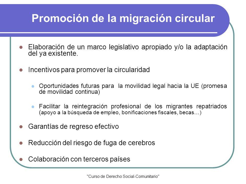 Promoción de la migración circular