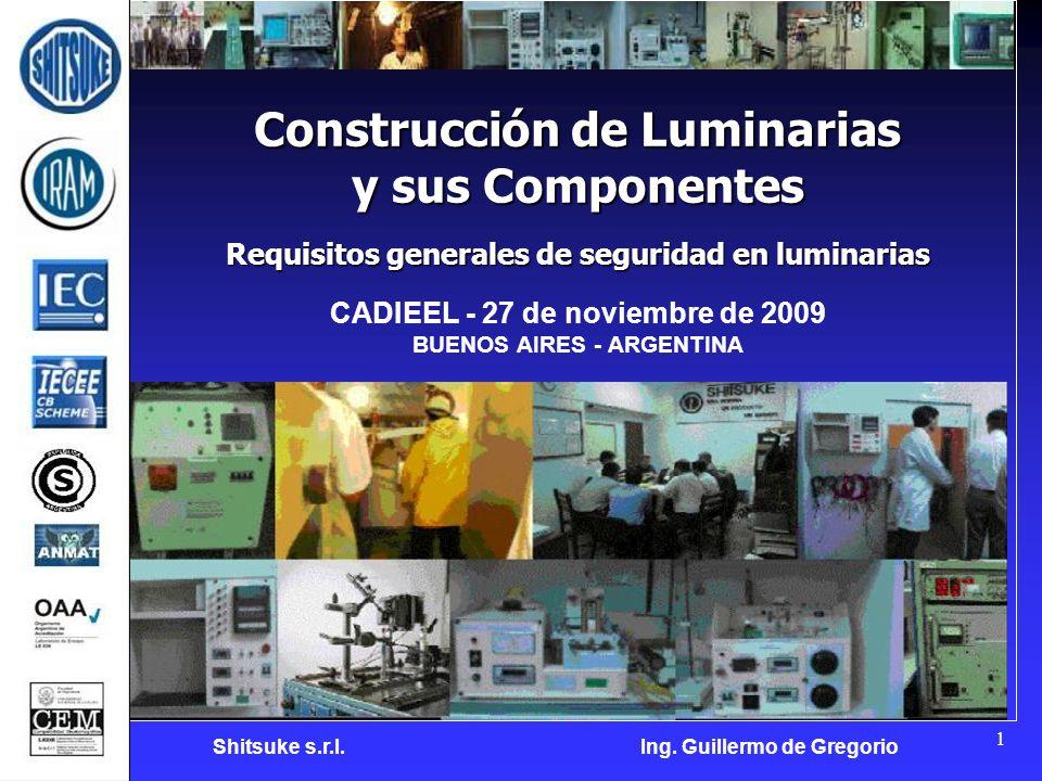 Construcción de Luminarias y sus Componentes