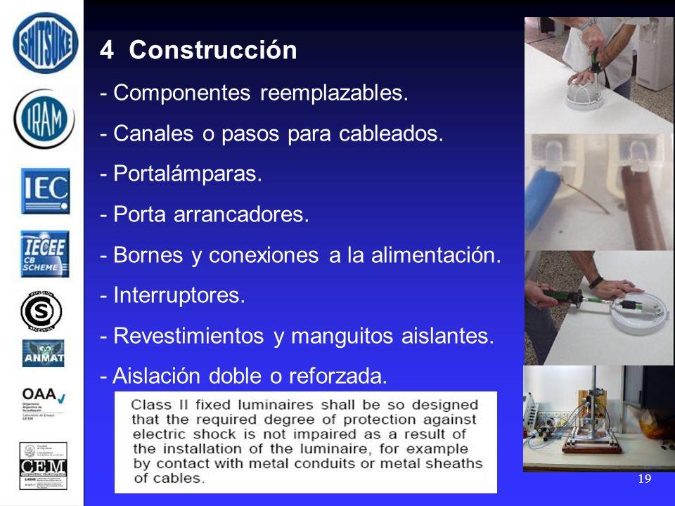 4 Construcción - Componentes reemplazables.