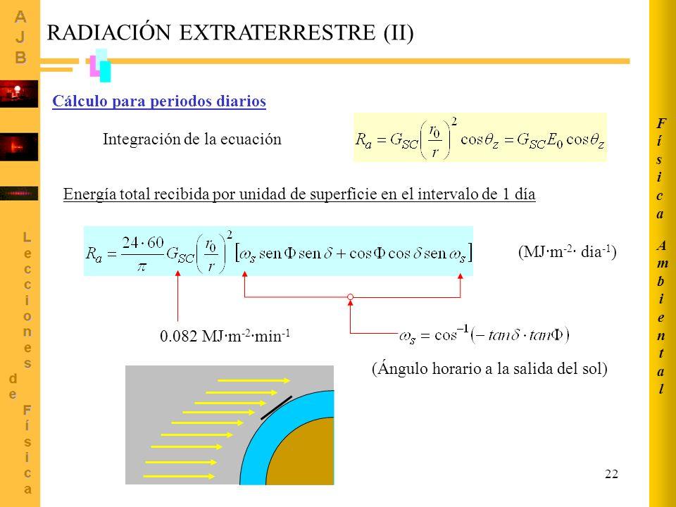 Integración de la ecuación