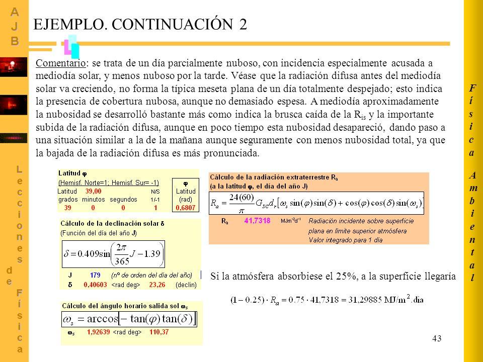 Ambiental Física. EJEMPLO. CONTINUACIÓN 2.