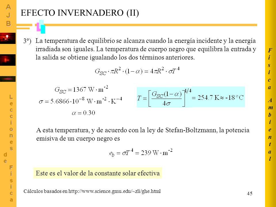 EFECTO INVERNADERO (II)