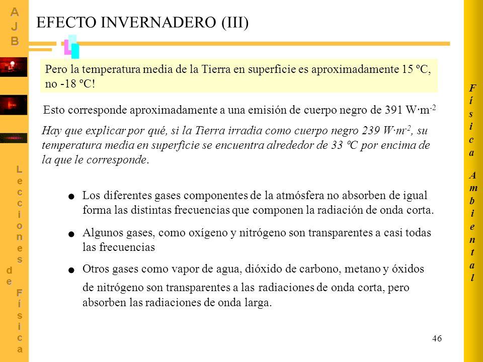 EFECTO INVERNADERO (III)