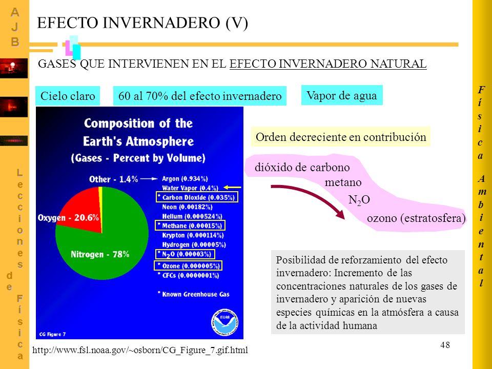 EFECTO INVERNADERO (V)