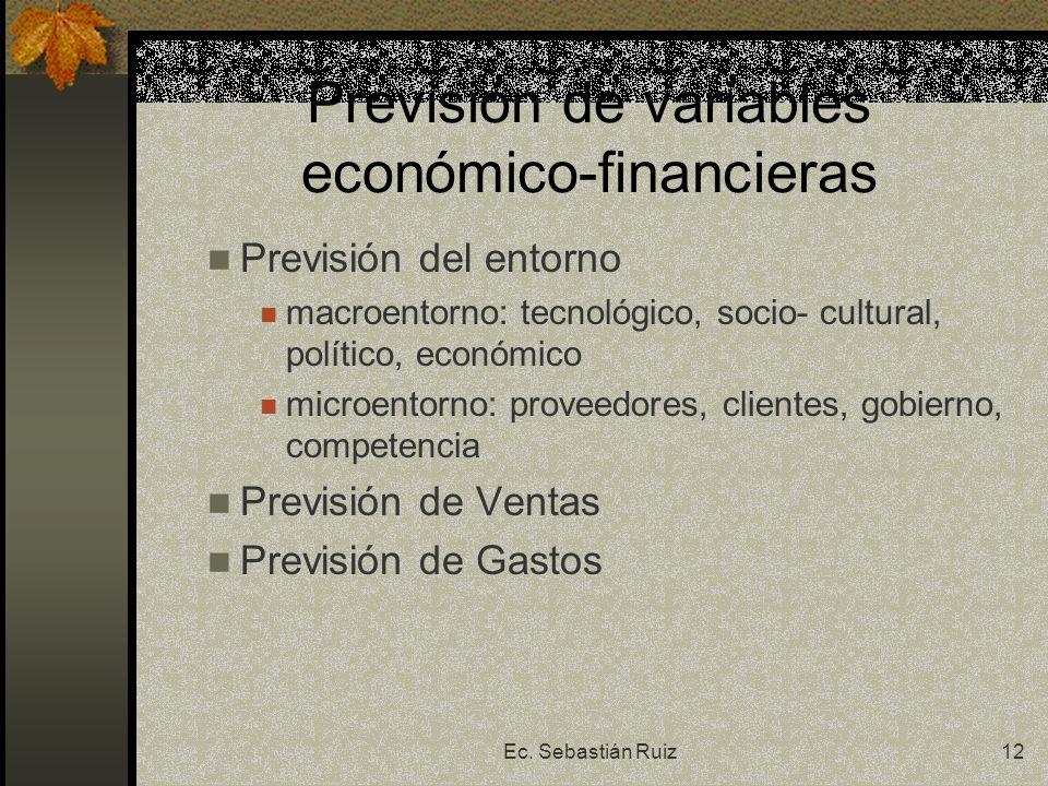 Previsión de variables económico-financieras