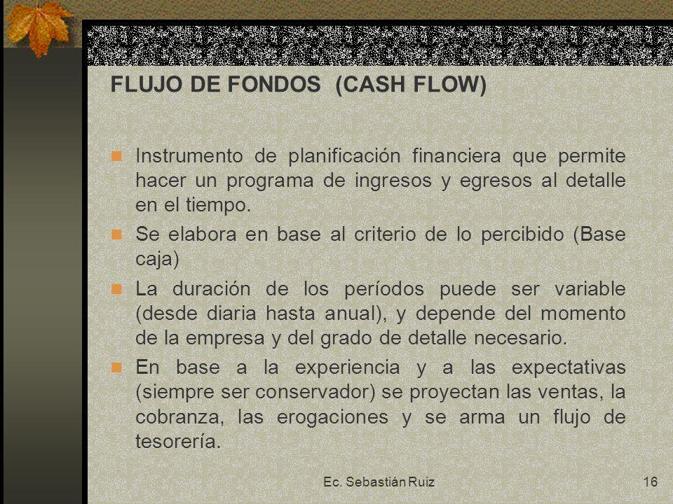 FLUJO DE FONDOS (CASH FLOW)
