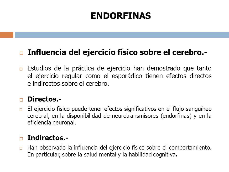Influencia del ejercicio físico sobre el cerebro.-