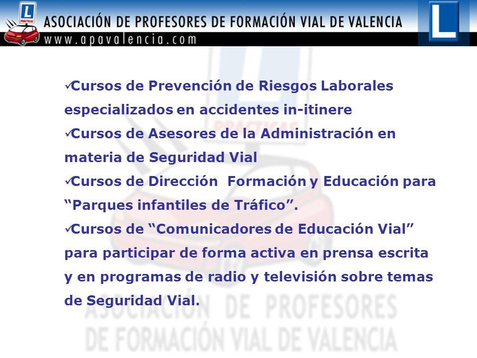 Cursos de Prevención de Riesgos Laborales especializados en accidentes in-itinere